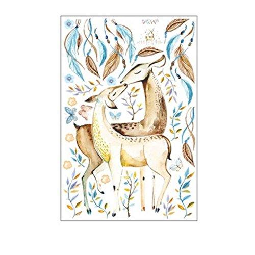 Laileya Patrones 60x90cm Ciervos Dibujos Animados