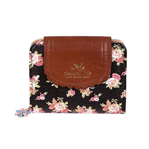 damara-femme-porte-monnaie-imprimss-fleur-rsstro-avec-bouton-pression-fermeture-eclairnoir