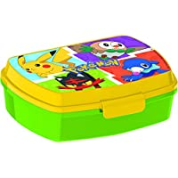 ALMACENESADAN 0432, Sandwichera Rectangular Pokemon, Producto plastico Libre bpa