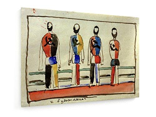 Kasimir Malewitsch - Budetijane (Zukunftianer) - 70x50 cm - Textil-Leinwandbild auf Keilrahmen - Wand-Bild - Kunst, Gemälde, Foto, Bild auf Leinwand - Alte Meister/Museum