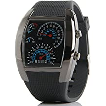 zhuorui Hombres relojes de los deportes LED Digital gel de silicona de metro del coche Dial Relojes regalo