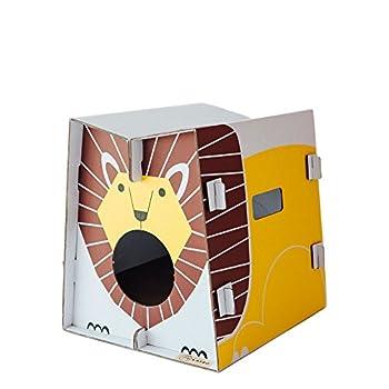 Mobilier de jeu et couchage pour chat design avec griffoir intégré (lion)