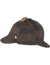 Lierys Deerstalker Mütze Cap für Herren Deerstalker Baseballcap mit Schirm, mit Ohrenklappen, mit Futter, mit Schirm, mit Ohrenklappen, mit Futter Winter Sommer