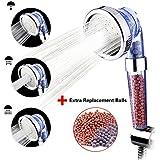 Austor ionique filtre pour pomme de douche à main levée, Spray Douchette 3 voies avec lot de 2 supplémentaires de remplacement Ion Boule minéral