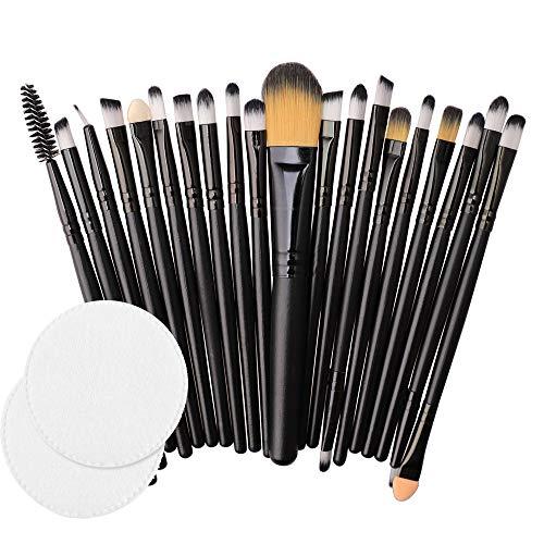 Wokee 20pcs Makeup Pinsel Set,Werkzeuge Pulver Foundation Rouge Lidschatten Blending Kontour...
