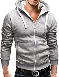 MERISH Sweat à capuche zippé SlimFit Hommes modern et casual Modell 12