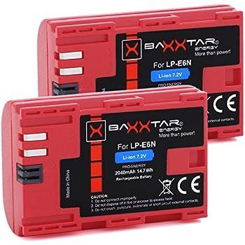 2 batería para Canon lp-e6n lpe6n a Canon EOS 90d xc10 eos 80d 7d 70d 6d 60d