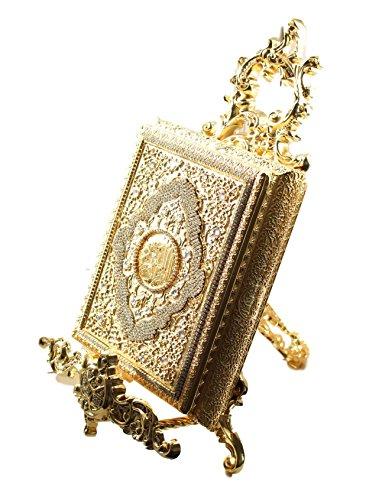 Beautiful Koran Fällen Gold & Silber Metall Ornament inkl. Vertikaler Ständer * Exklusives und Limited *, metall, gold