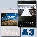 Großer Bastelkalender DIN A3 zum selbst gestalten für 2019 schwarz weiß DIN A3 für Fotos bis 20x30 / 30x30 - Fotokalender Foto Hobbykalender Kreativ Kalender selbstgestalten kka3