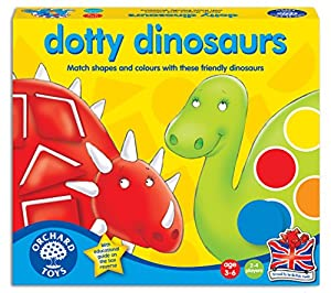 Orchard Toys Dotty Dinosaurs - Juego educativo sobre formas y colores (importado de Reino Unido)