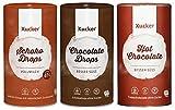 Xucker - Schokodrops Vollmilch (750 g) + Schokodrops Zartbitter (750 g) + Hot Chocolate (750 g) 3er Mix