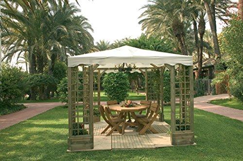 Cenador Pergola Madera Jardin De Lujo
