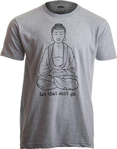 """""""Let That Shit go"""" - Zen-Shirt mit lustigem Spruch & Buddha-Motiv Yoga Herren T-Shirt mit Schriftzug - M"""