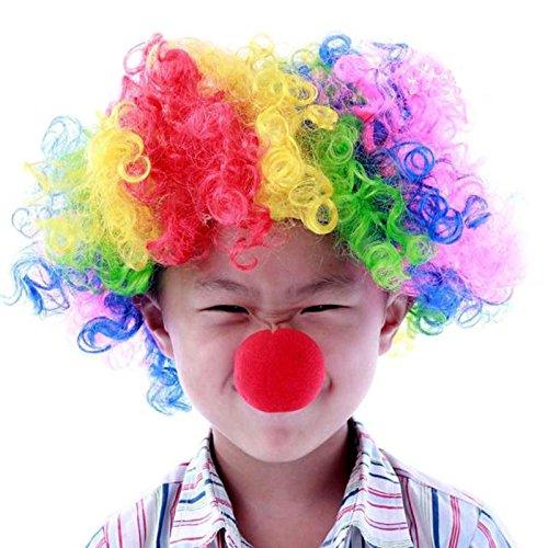Halloween kostüm, Clown, Nase, Kostüm, Perücke, farbige explosive dienen, Ventilator Haar, explosive Haar (Farbige Kostüme Perücken)