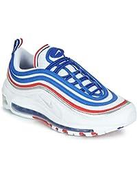 save off e1e3e bd5a8 Nike AIR MAX 97 Sneaker Herren Weiss Blau Rot Sneaker Low