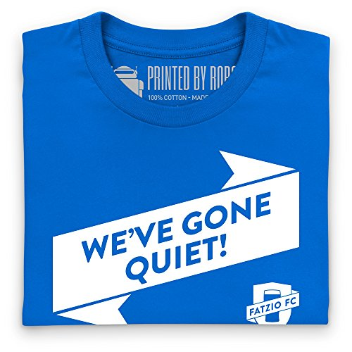 Fatzio FC We've Gone Quiet! T-Shirt, Herren Royalblau