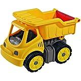 Kipper LKW Spielzeug Power-Worker mit Soft-Reifen, robust, 16 cm, Kunststoff, gelb • Kinder Lastwagen Baustellen Fahrzeug Softräder Sandspielzeug