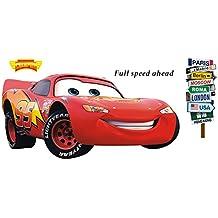 Winhappyhome Cartoon Cars Kids Wall Stickers Para Dormitorio Sala De Estar Fondo Decorativo Decorable Decalques
