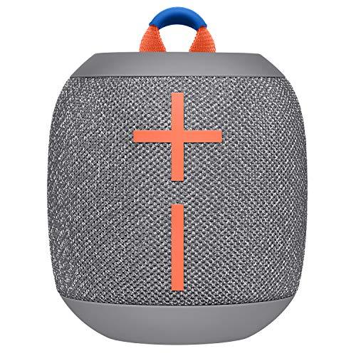 Ultimate Ears Wonderboom 2 Tragbarer Bluetooth-Lautsprecher, 360° Sound, Wasserdicht & Staubdicht, Outdoor-Modus, Verbinden Sie 2 Lautsprecher für Stereo-Sound, 13-Stunden Akkulaufzeit - grau
