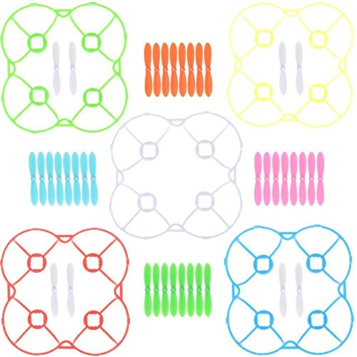 kingtoys® 40pcs Propulsores con 5 Blades Cubierta 5 Color para Cheerson CX-10...