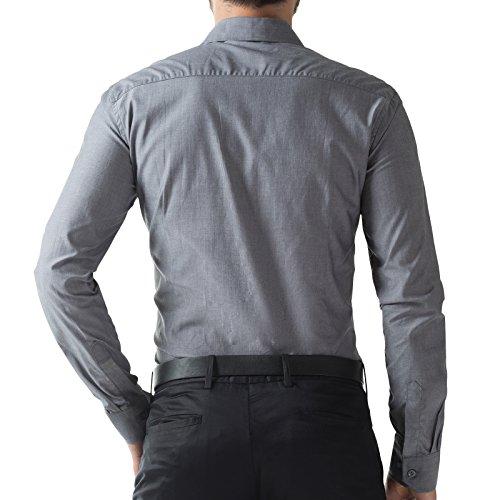 Image of Classic Mens Shirt Oxford Office Shirts Gray PJ5252-2 M
