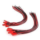 10 Paar 200mm JST Adapterkabel Stecker Buchse mit Kabel Draht männlich und weiblich für RC BEC Lipo Akku