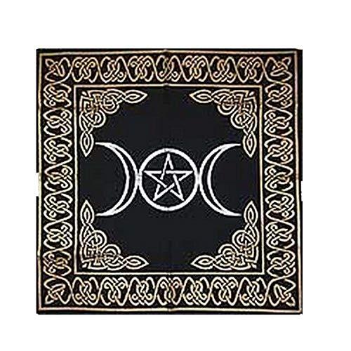 MEILI Altar Wandverkleidung Im Hintergrund Mit Einem Rituellen Tischtuch,Moon
