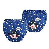 Baby Kleinkind Windel Hosen - Cartoon Unterwäsche Bio-Baumwolle 2 Stück Unterwäsche Windel Cover Baby Shorts 6-24 Monate