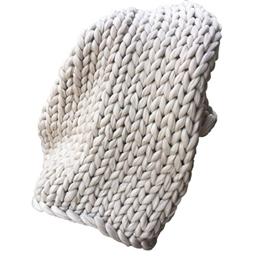 Routinfly Hand Chunky gestrickte Decke dicke Wolle sperrige Knitting Throw Schlussverkauf