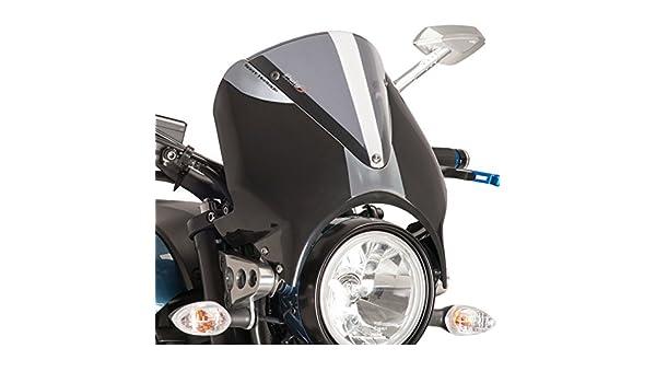 Windschild f/ür Yamaha XSR 700 16-17 Puig Vision schwarz rauchgrau