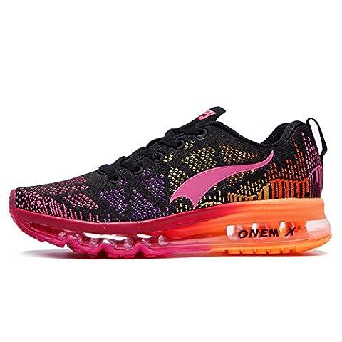 ONEMIX Chaussures de Course Air Running Sport Compétition Trail Entraînement Femme Baskets Gym Fitness