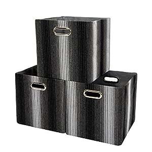 mayspring faltbare aufbewahrungsbox cube warenkorb m lleimer f r w schekorb spielzeug kleidung. Black Bedroom Furniture Sets. Home Design Ideas