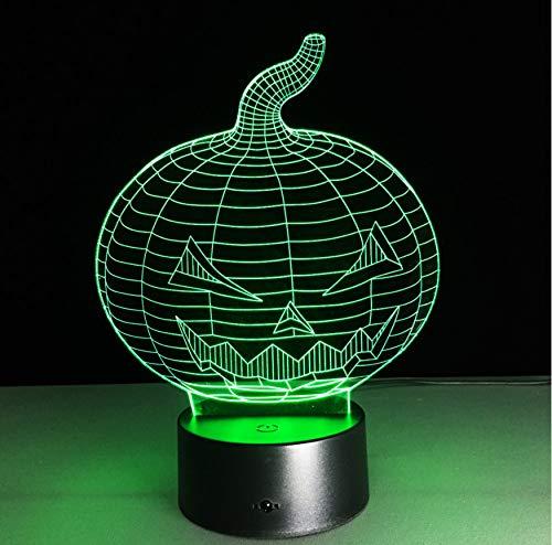 loween Kürbis Schädel 3D Usb Led Nachtlicht 7 Farben Ändern Stimmung Lampe Touch Taste Kinder Schlafzimmer Lampe ()