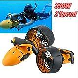 HR Sea Scooter Unterwasserscooter 300 Watt w/Dual Speed Propeller Seeroller Tauchscooter in der Wasser,Schnorchelausrüstung geeignet für Schwärme