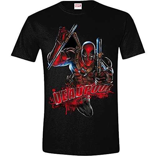 Deadpool Maglietta Maglia T Shirt Bloody Attack Size M CODI