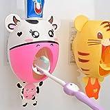 Baby-Zahnbürste-Spender, scherzt Hände frei Zahnpasta-Spender BigNoseDeer Kinder automatisches Karikatur-nettes Tier-Zahnpasta-Squeezer-gutes Geschenk (Kuh)