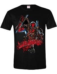 Deadpool Attack Camiseta Negro