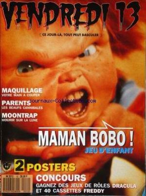 VENDREDI 13 [No 10] du 01/04/1989 - MAQUILLAGE - PARENTS - LES BEAUFS CANNIBALES - MOONTRAP.
