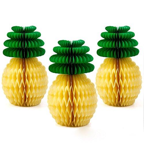 (5x Tropische Ananas Honeycomb Ball Tisch Luau Hawaii Obst Dekor Baby Dusche Hochzeit Party Papier Craft Dekorationen 20 cm Wie abgebildet)