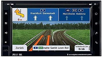 ESX Naviceiver VN620W 2DIN Navi Bluetooth mit Einbauset für Audi A3 (8P/8PA) 2006-2012 schwarz teilaktiv