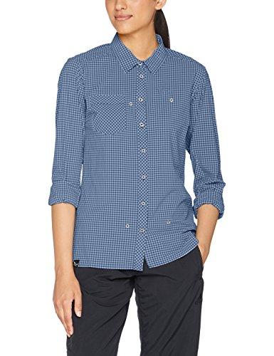 Salewa Puez Dry W SRT Mini Check Hemd, langärmelig, Damen, Puez Mini Check Dry W SRT, Blau (m mini check dark de) (Hoch Und Groß Brusttasche T-shirt)