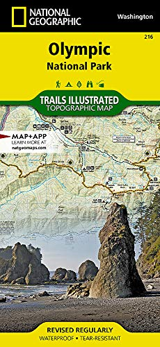 Olympic National Park, WA: National Geographic Trails Illustrated National Parks (National Geographic Trails Illustrated Map, Band 216) (Wa Map State)