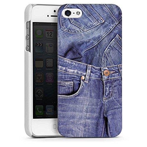 Apple iPhone 6 Housse Étui Silicone Coque Protection Jeans Mode Bleu CasDur blanc