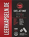 1000 Leerkapseln | Größe 0 | getrennte Kapselhälften | Gelatine | Halal & Kocher zertifiziert | aus Südamerika | MHD Jan. 2022 | transparente (1000)
