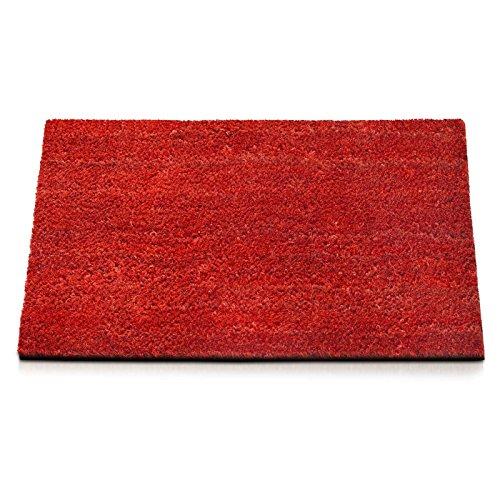 Kokosmatte | rot | drei Höhen und Größen (30mm, 50x80cm)