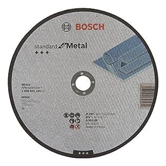 Bosch 2 608 603 168 – Disco de corte recto Standard for Metal – A 30 S BF, 230 mm, 22,23 mm, 3,0 mm (pack de 1)