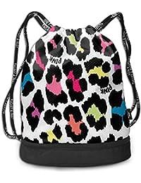 1cdba432c3a0 RAINNY Cheetah Colorful Leopard Drawstring Bag for Men & Women - Large  Storage Waterproof Cinch Backpack
