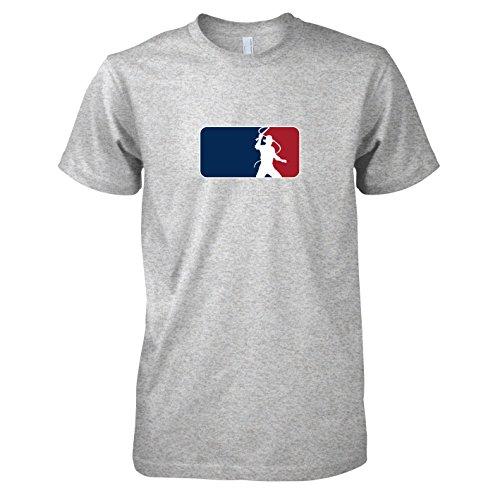 TEXLAB - Indy League - Herren T-Shirt, Größe S, graumeliert (Jones Shirt Indiana)