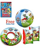 Paw Patrol Swimming Armbands, Swim Ring and Beach Ball Set Pool Beach Fun For Kids and Children