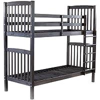 Preisvergleich für Ambientehome 90419 Bett, Holz, taupegrau, Twin-Bed, 213 x 98.5 x 190 cm